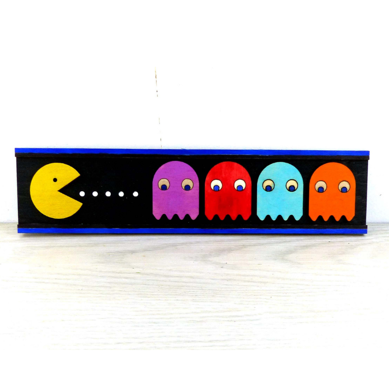 pacman gaming sign art