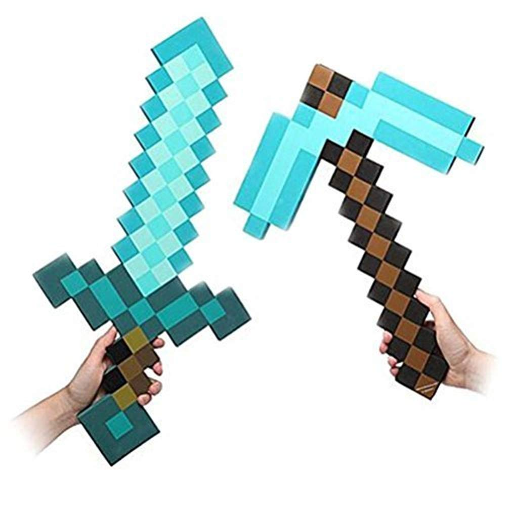 minecraft sword and pick axe toy