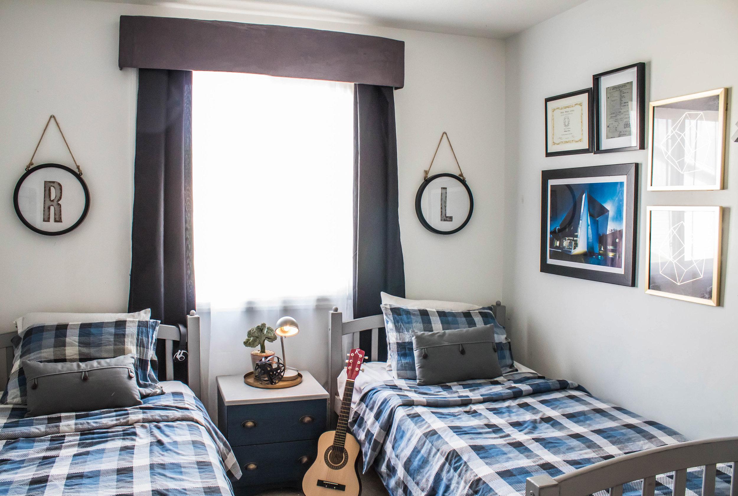 rustic industrial boy's bedroom