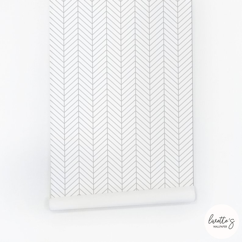 gray white chevron wallpaper