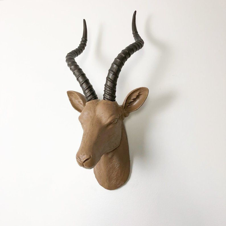 gazelle antelope wall mount