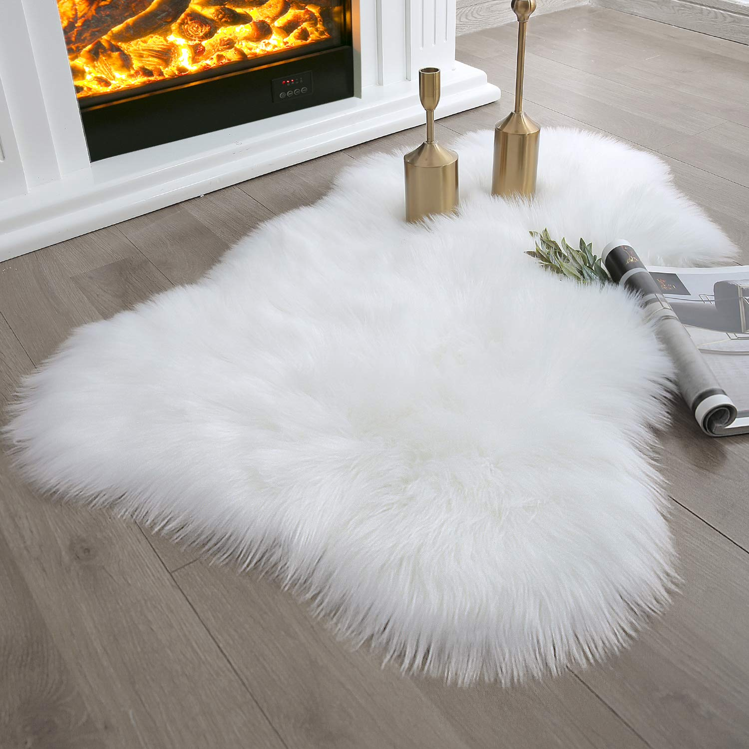 faux fur nursery rug