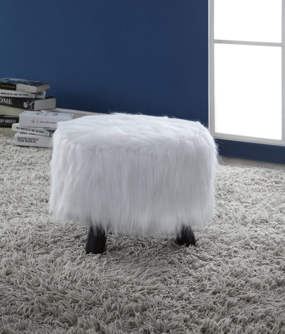 faux fur stool