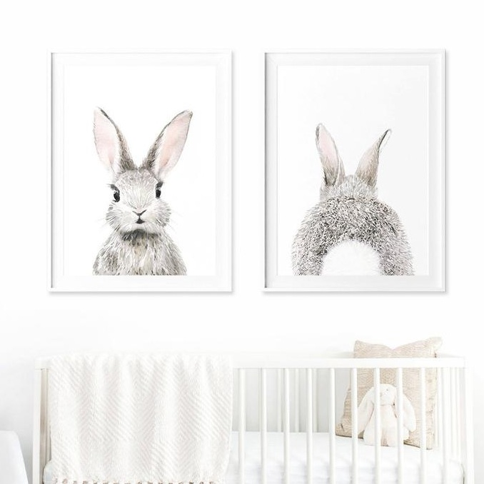 bunny nursery art prints