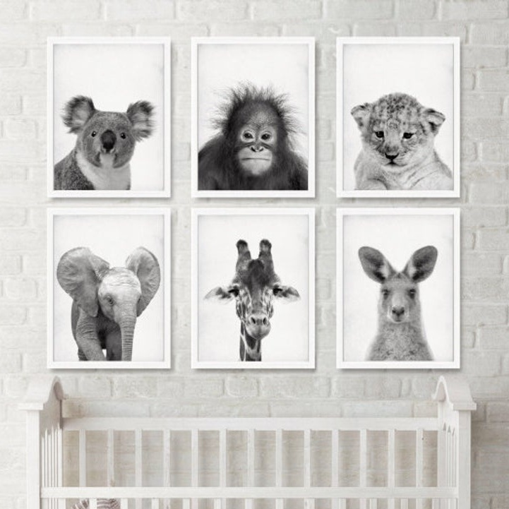 jungle animal nursery prints