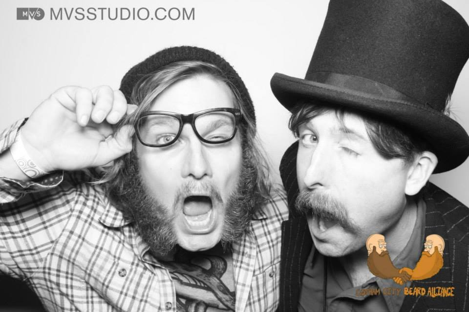 Gotham City Beard and Mustache Competition 2014 (w/ Gary Lauderman). Won 3rd Place Natural 'Stache!