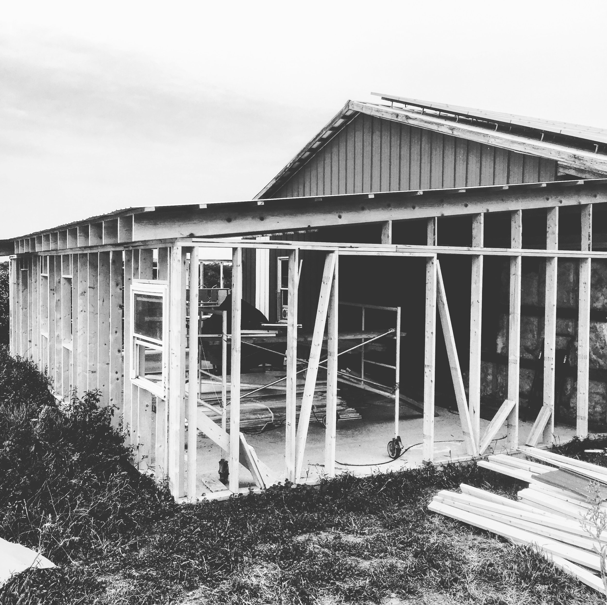 Barn addition in progress, Summer 2017