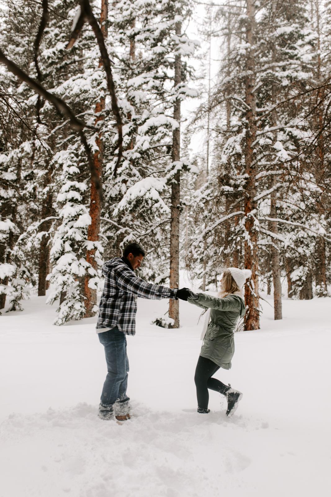 Vanessa & Danny Snow Rocky Mountain National Park Engagement Elopement Photography Photographer-2.jpg