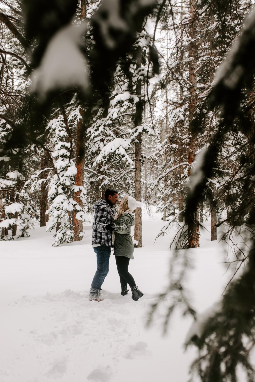 Vanessa & Danny Snow Rocky Mountain National Park Engagement Elopement Photography Photographer-3.jpg