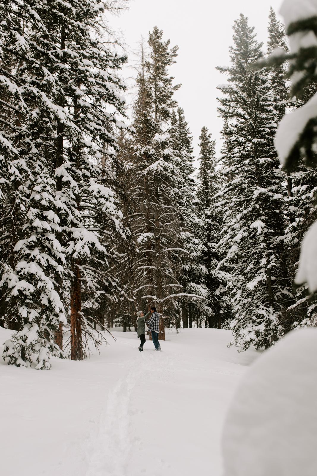 Vanessa & Danny Snow Rocky Mountain National Park Engagement Elopement Photography Photographer-5.jpg