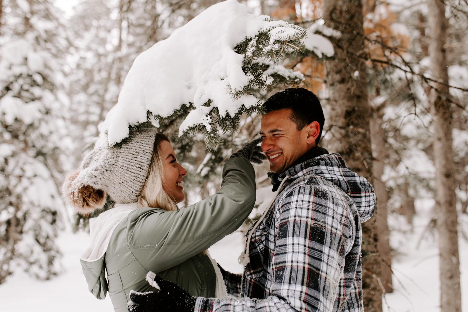 Vanessa & Danny Snow Rocky Mountain National Park Engagement Elopement Photography Photographer-20.jpg