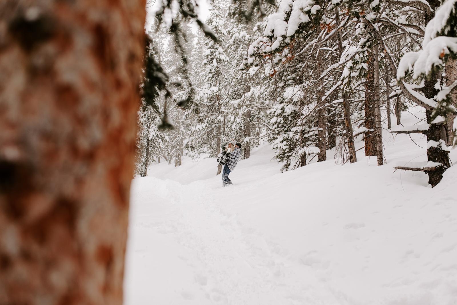 Vanessa & Danny Snow Rocky Mountain National Park Engagement Elopement Photography Photographer-45.jpg