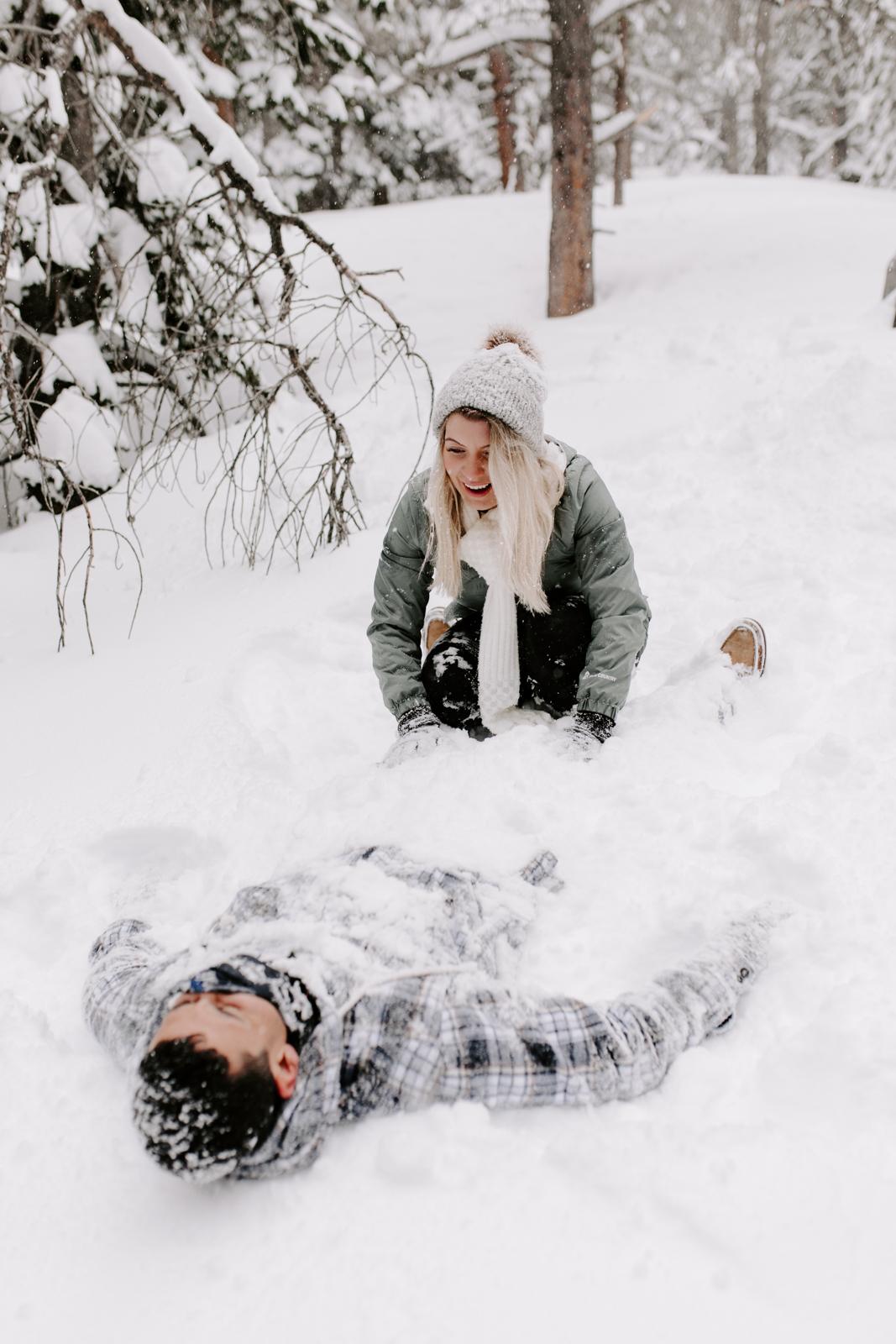 Vanessa & Danny Snow Rocky Mountain National Park Engagement Elopement Photography Photographer-89.jpg