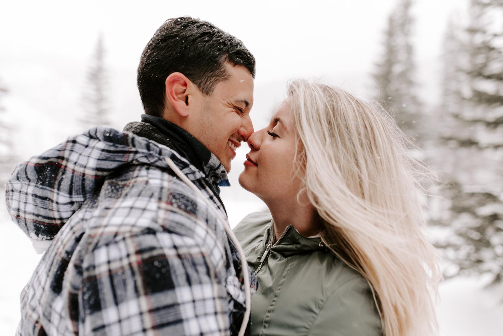 Vanessa & Danny Snow Rocky Mountain National Park Engagement Elopement Photography Photographer-118.jpg