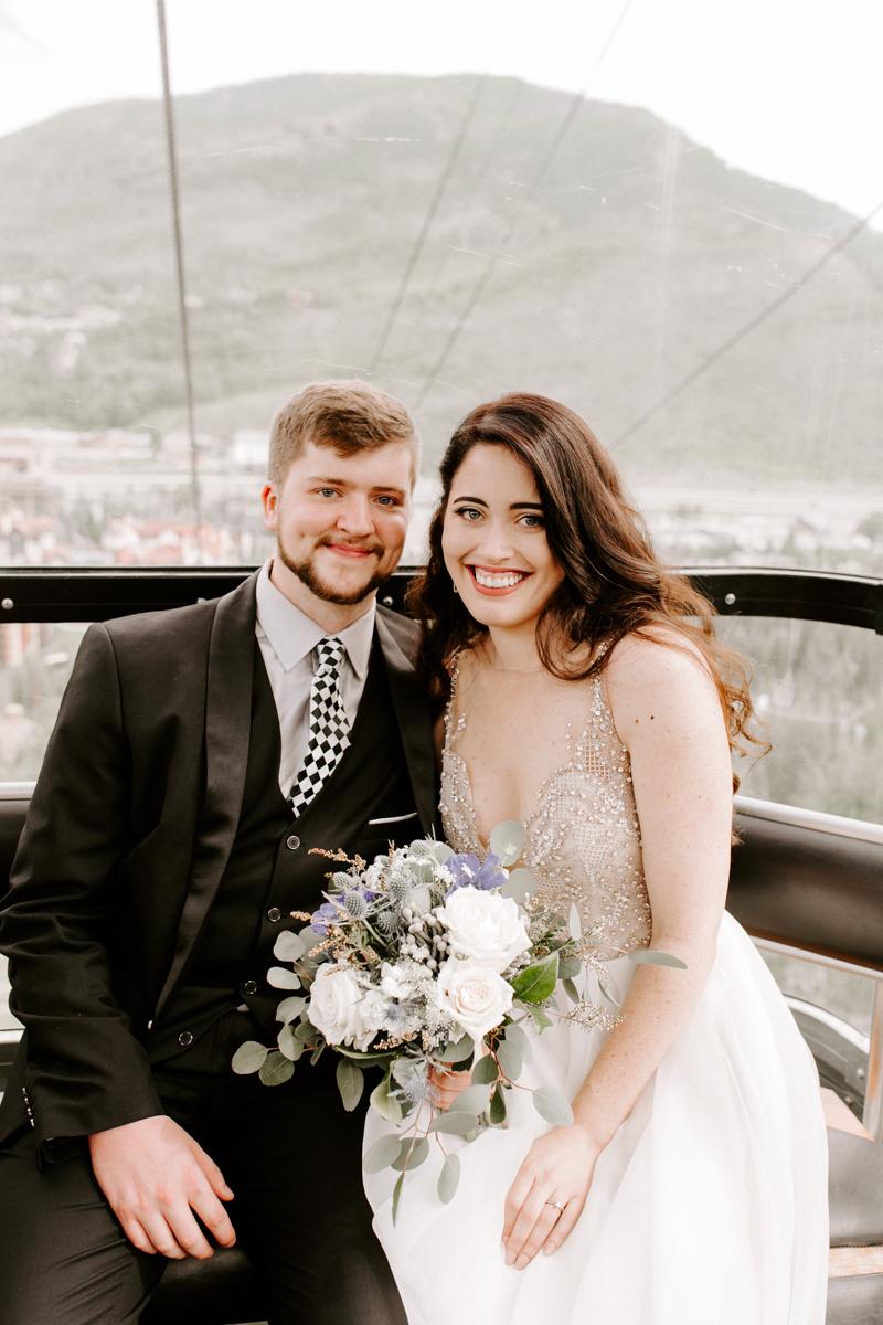 bride groom riding the gondola to wedding in vail colorado-3.jpg