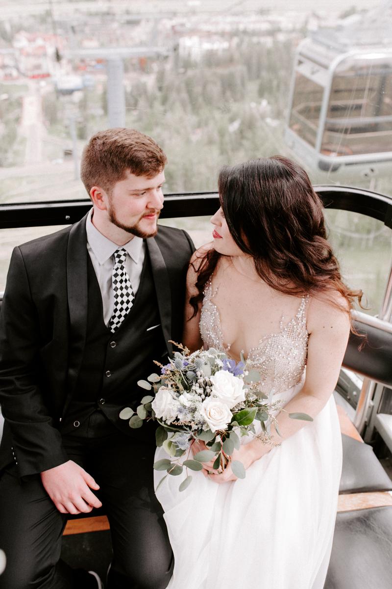 bride groom riding the gondola to wedding in vail colorado-4.jpg
