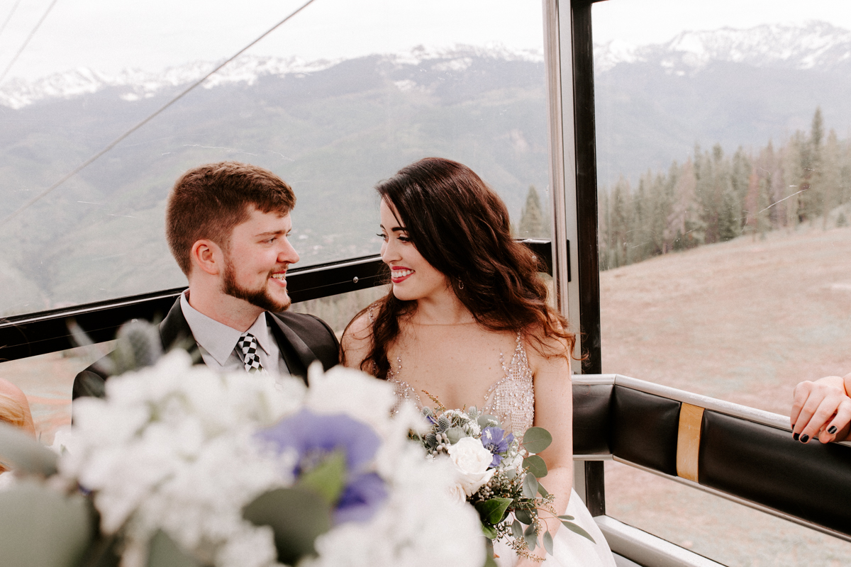 bride groom riding the gondola to wedding in vail colorado-5.jpg