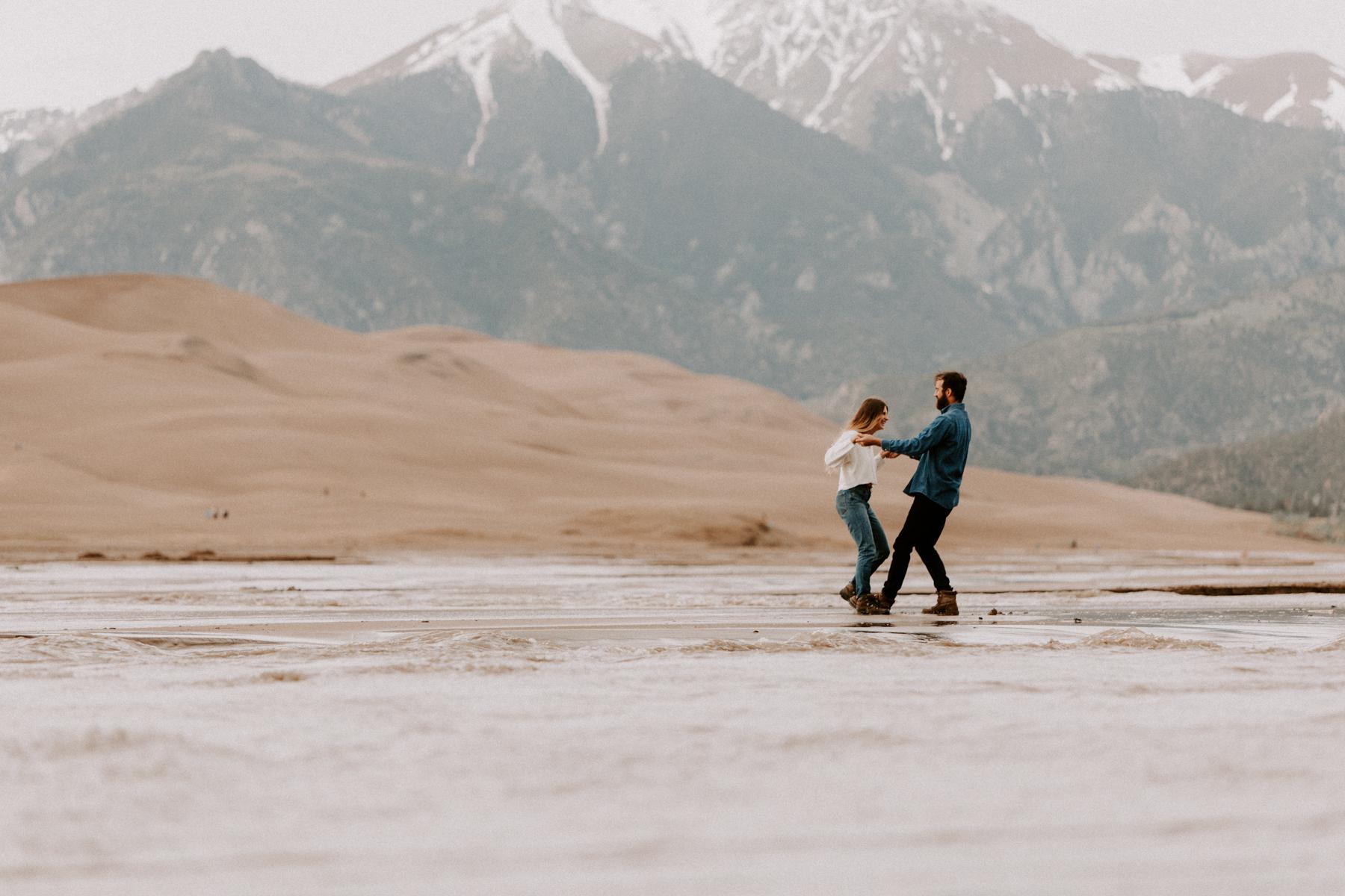S + J Great Sand Dunes National Park Engagement Photography Photographer Wedding Alamosa Colorado-9.jpg