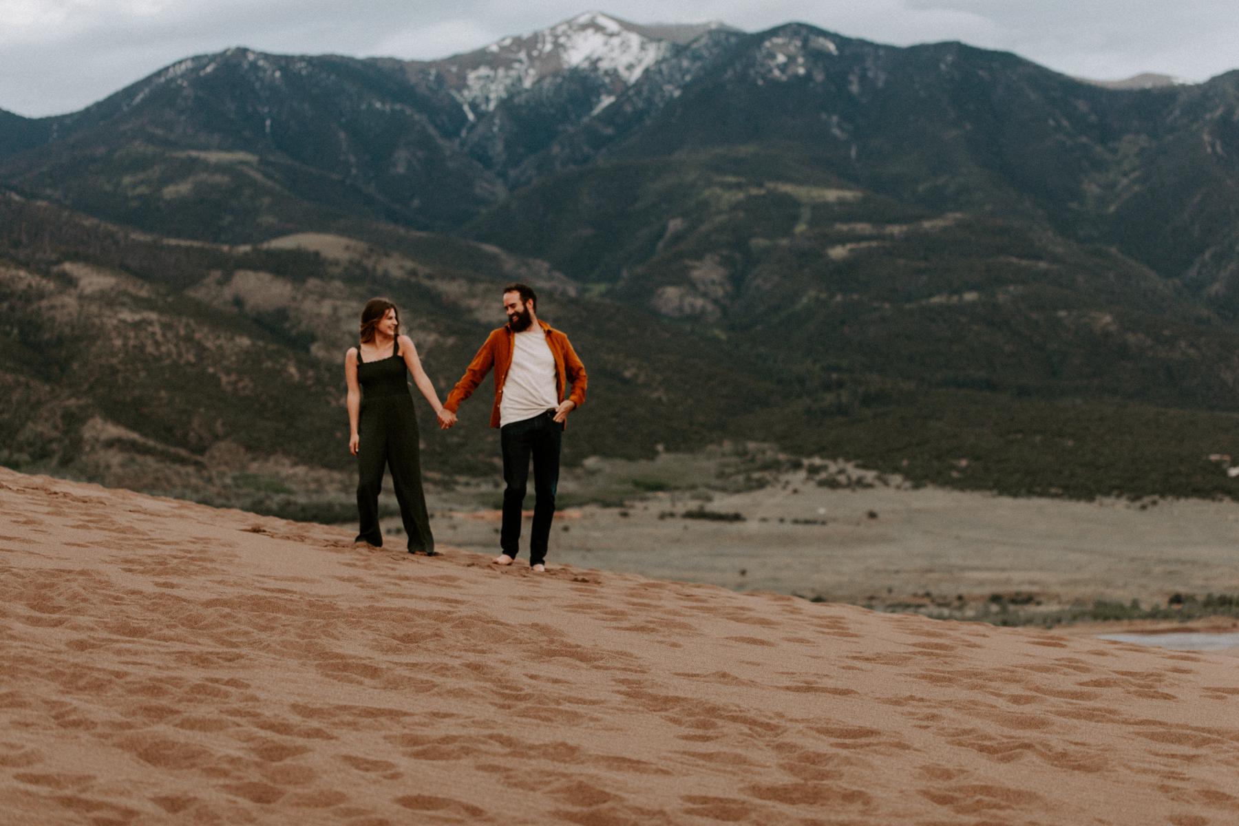 S + J Great Sand Dunes National Park Engagement Photography Photographer Wedding Alamosa Colorado-46.jpg
