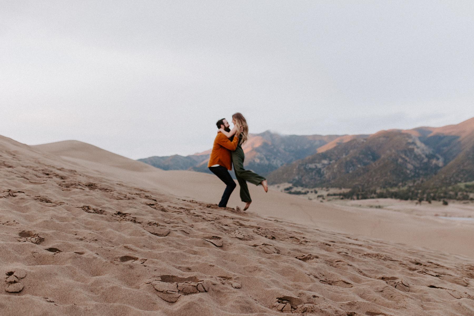 S + J Great Sand Dunes National Park Engagement Photography Photographer Wedding Alamosa Colorado-69.jpg