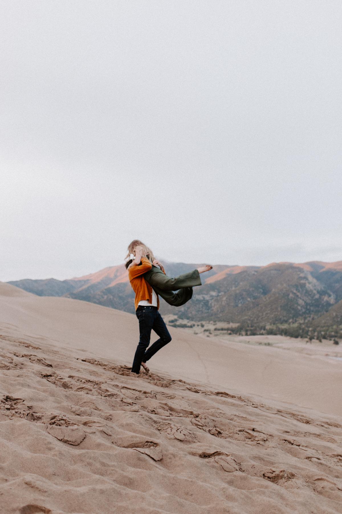 S + J Great Sand Dunes National Park Engagement Photography Photographer Wedding Alamosa Colorado-73.jpg