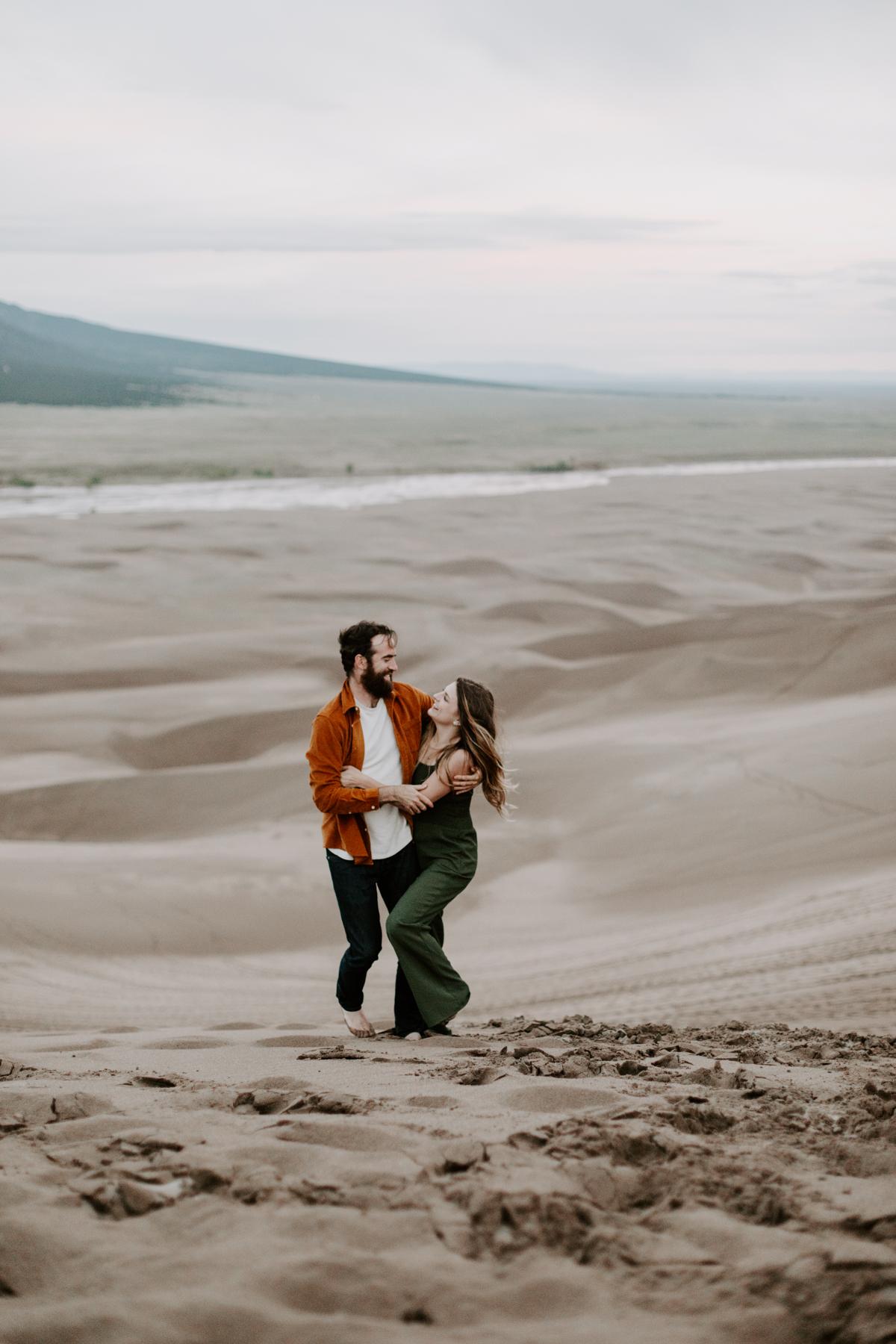S + J Great Sand Dunes National Park Engagement Photography Photographer Wedding Alamosa Colorado-122.jpg
