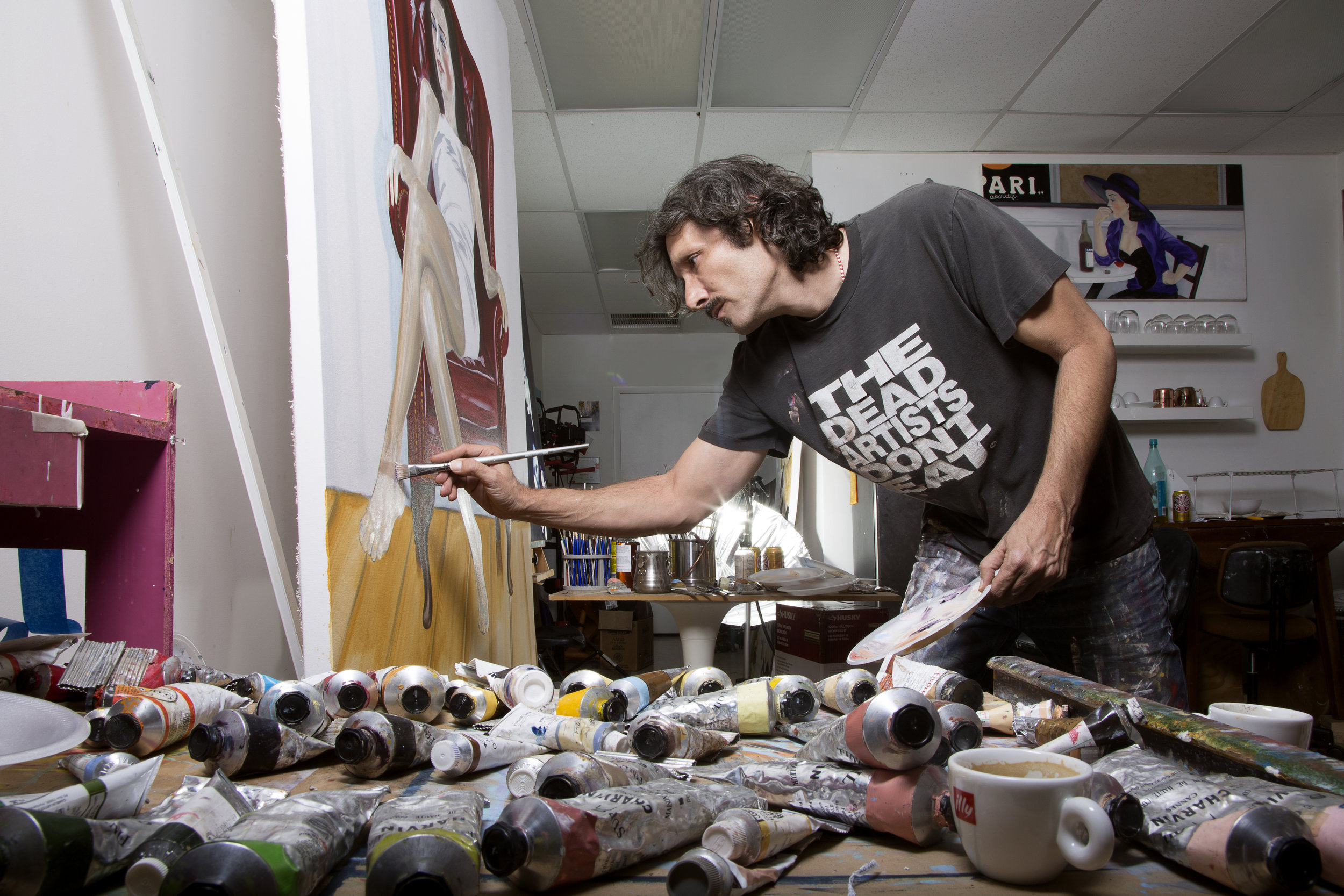 Andres Conde  in the studio. Photo Credit :  Natasha Kertes