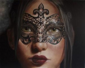 """Amor Sin Antifaz"" Oil and Acrylic on Canvas 60"" x 48"" Darian Rodriguez Mederos"