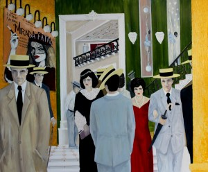 """El Gran Salon"" Mixed Media on Canvas 72"" x 60"" Andres Conde"