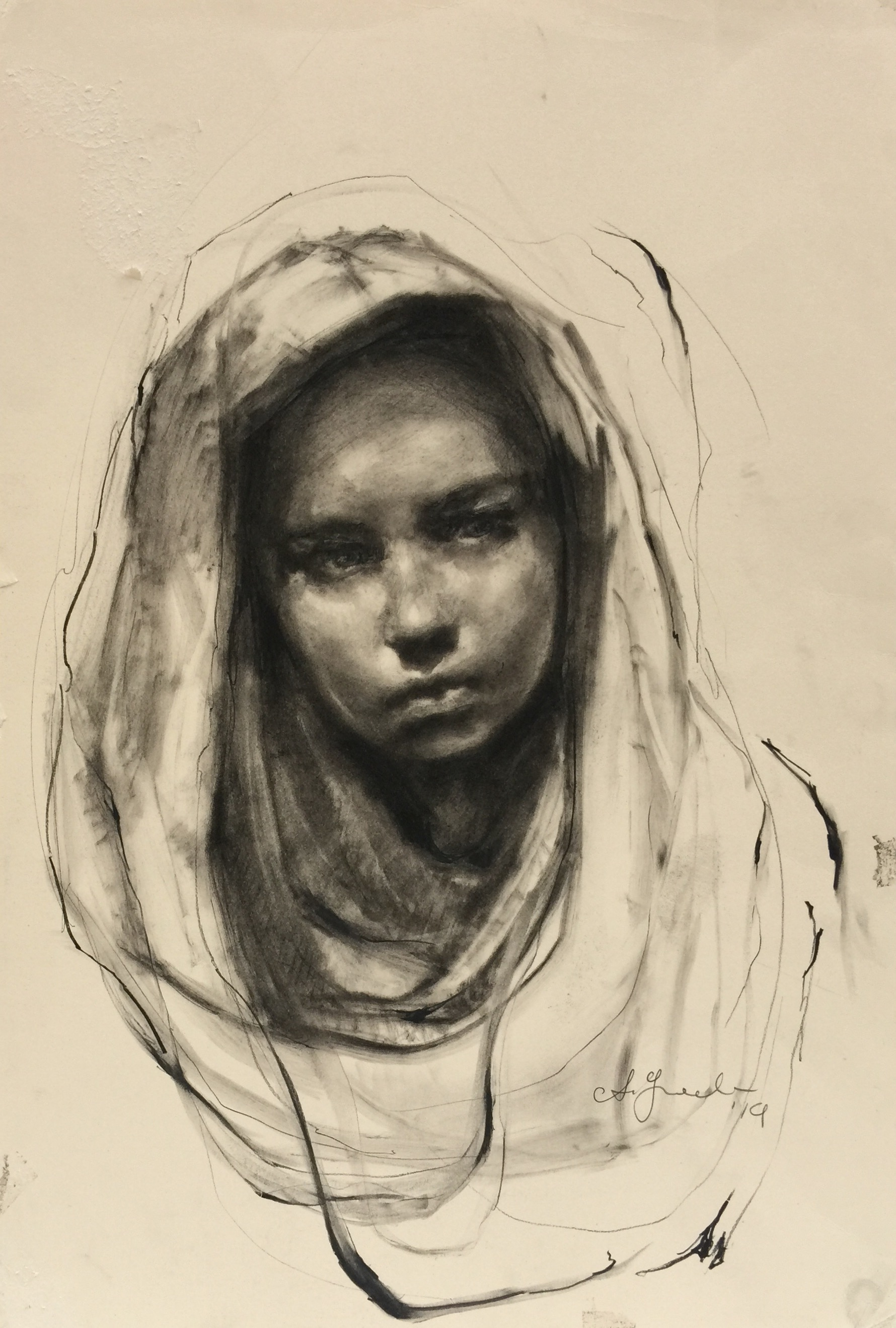 Girl in A Scarf, 2016