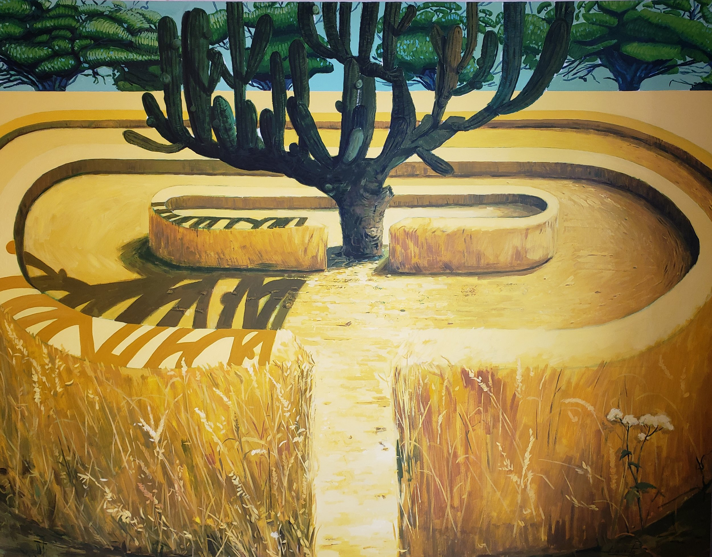 Landscape with cactus, 2019