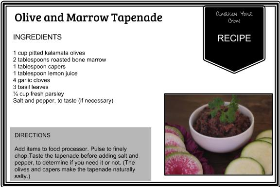 olive and marrow tapenade