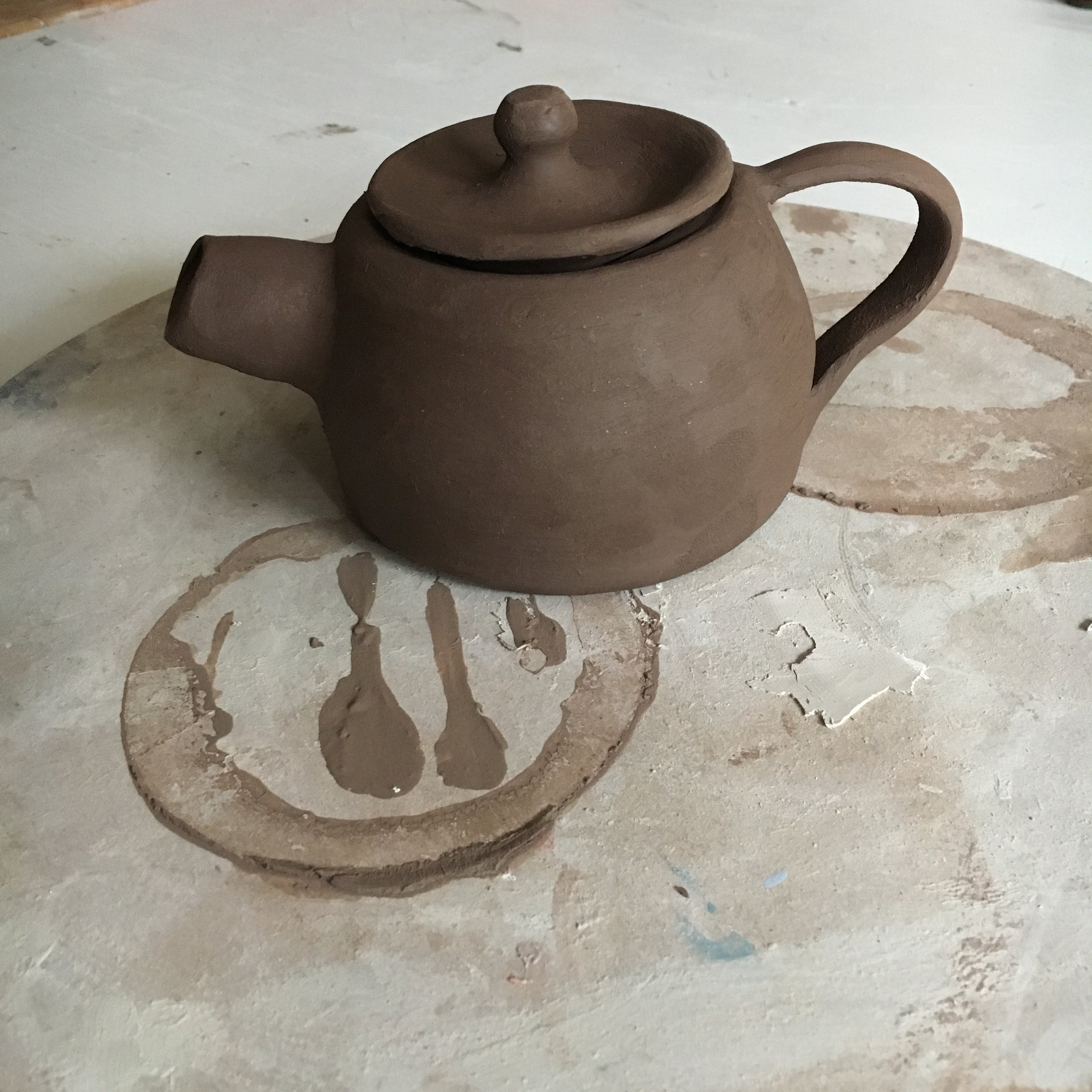 My teapot when it was first made.
