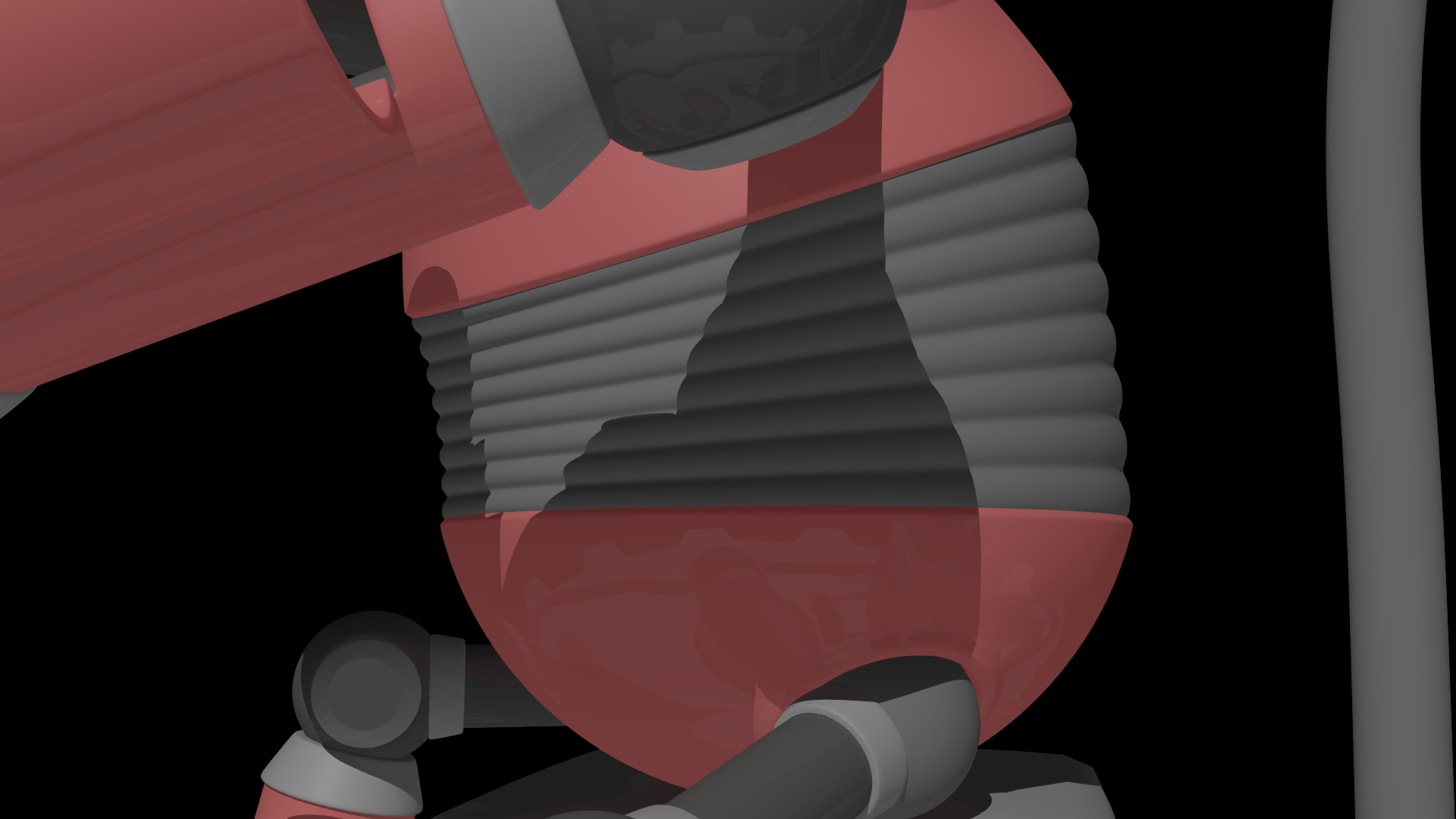 Added a hose like body for better movement when bending from the hips