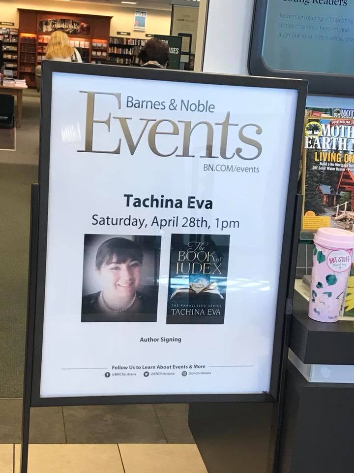Tachina Eva, Author of The Book of Iudex, will be at Barnes & Noble in Christiana Mall in Newark, Delaware today at 1pm. Go to BN.com/events for further details