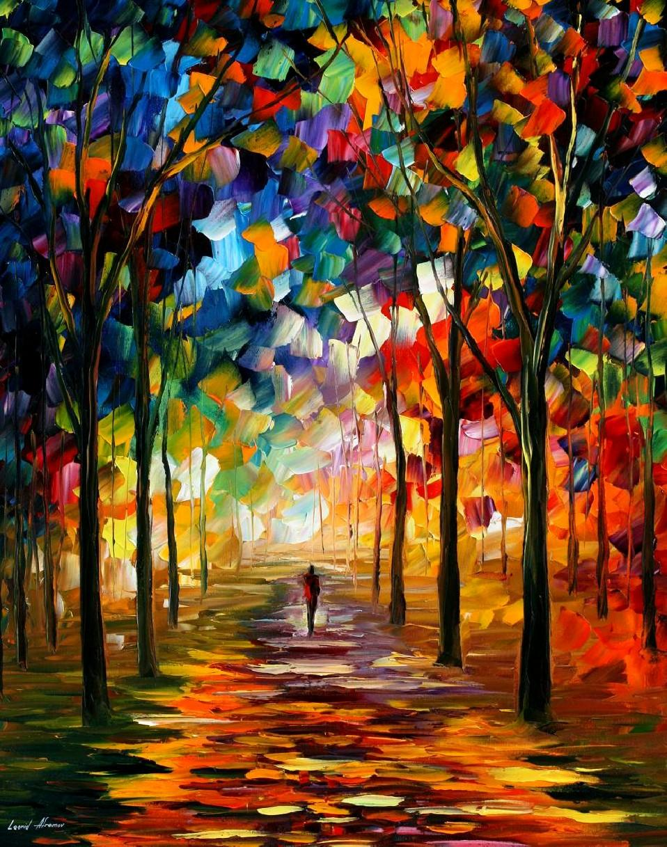 """Forest Path"" by Leonid Afremov"