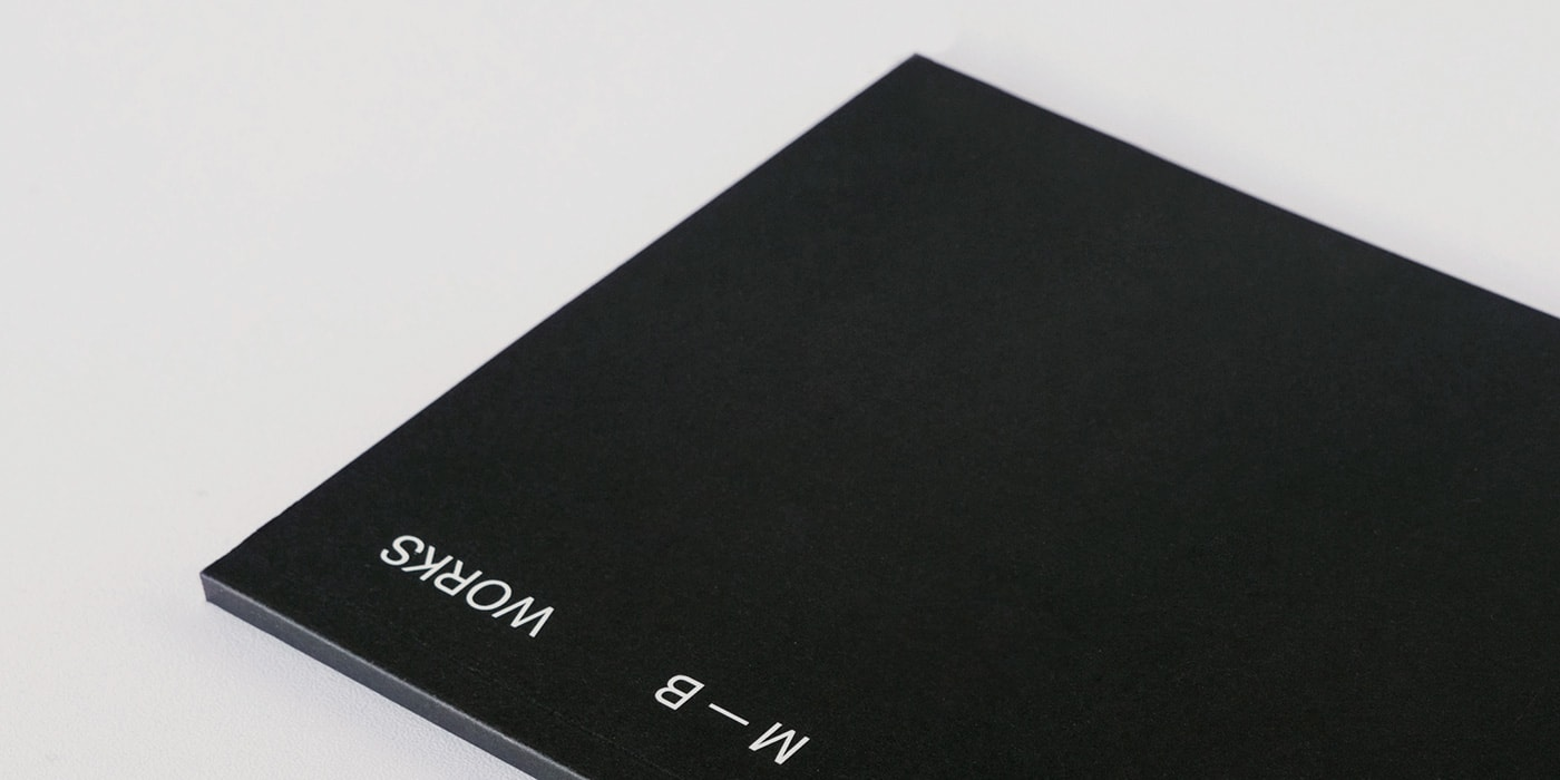 Black cover of my CV + Portfolio
