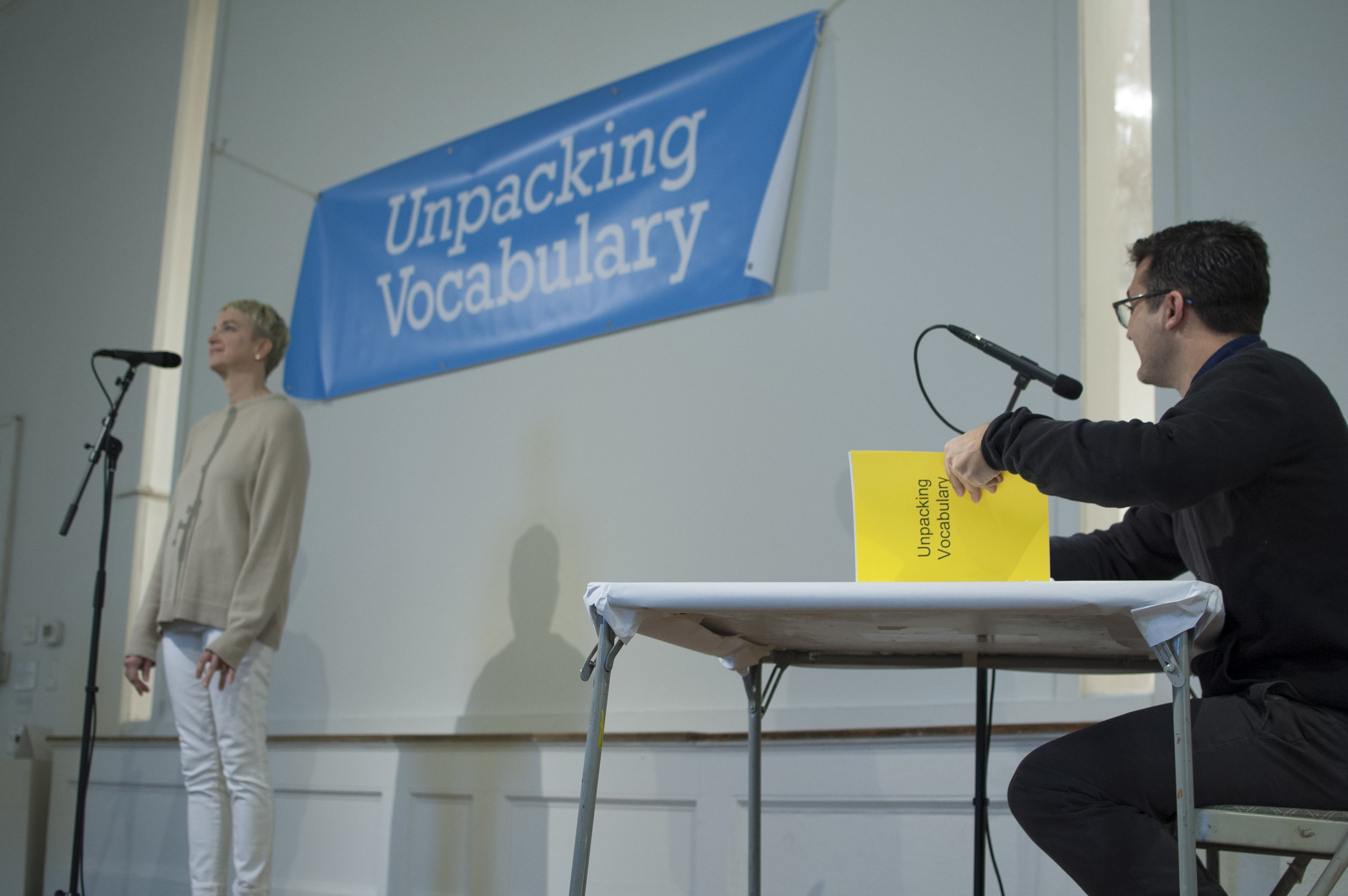 Unpacking Vocabulary , performance,  Obstacle Course , New Art Center, Newton, MA, 2016 (Photograph: Ashley Wood)