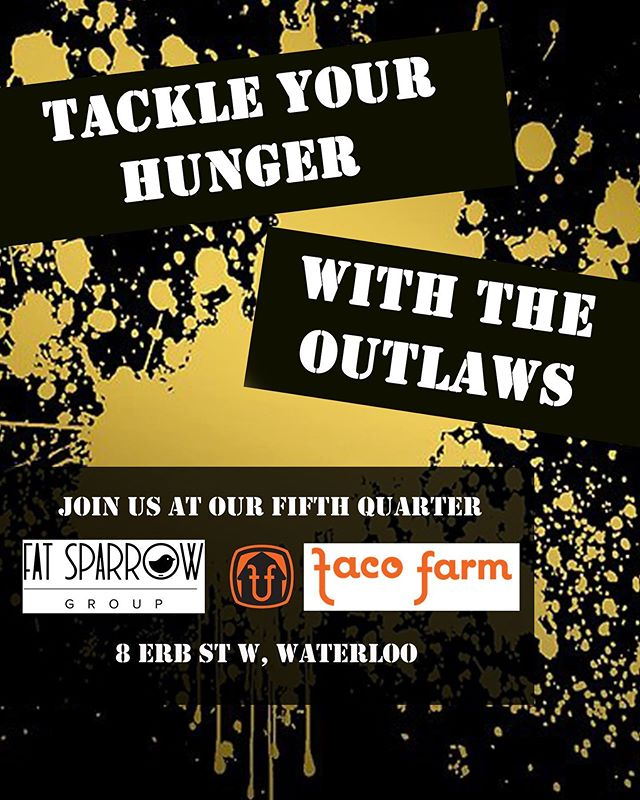 Join your @tcoutlawsfootball after the game on Saturday @tacofarmco for some cold beer and delicious food. #outlaws #local #fatsparrow #football