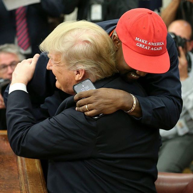 Kanye West sported his #MAGA hat again as he met with President @realdonaldtrump on Thursday and talked about an array of topics including: slavery and the 13th Amendment, industry, prisons and the discourse between races in America. #America #KanyeandTrump #kanye #trump #stayhungryshow