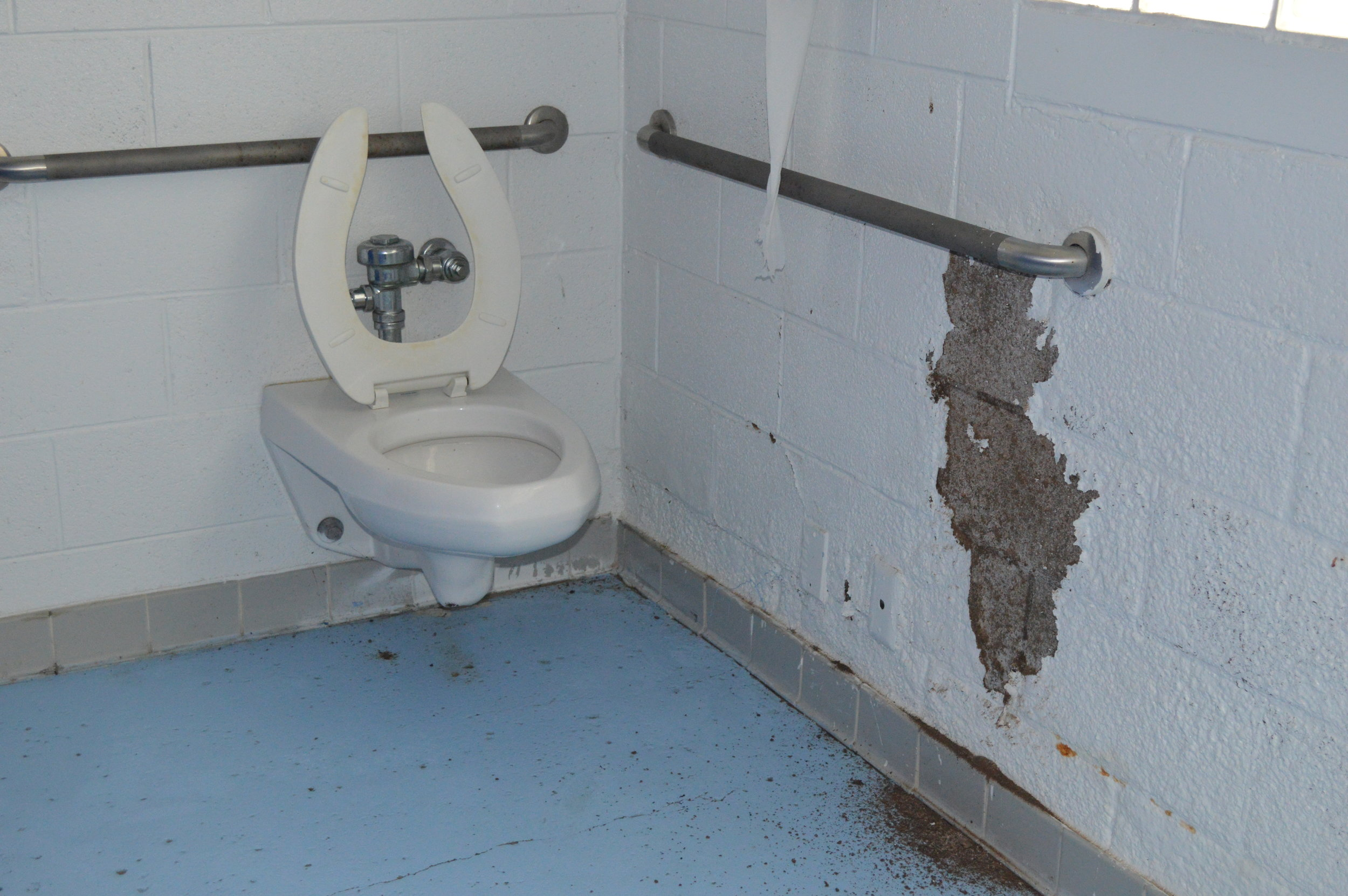 toilet and wall water damage.JPG