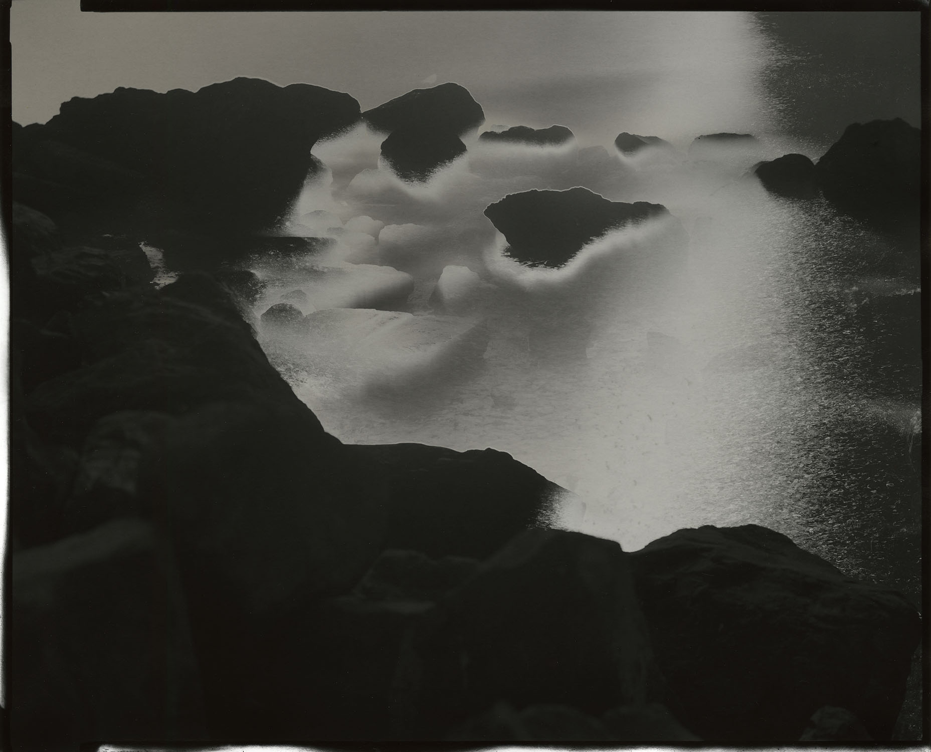 """Tidal #4, 2013. 8""""x10"""" unique gelatin silver paper negative. Courtesy of Haines Gallery, San Francisco"""