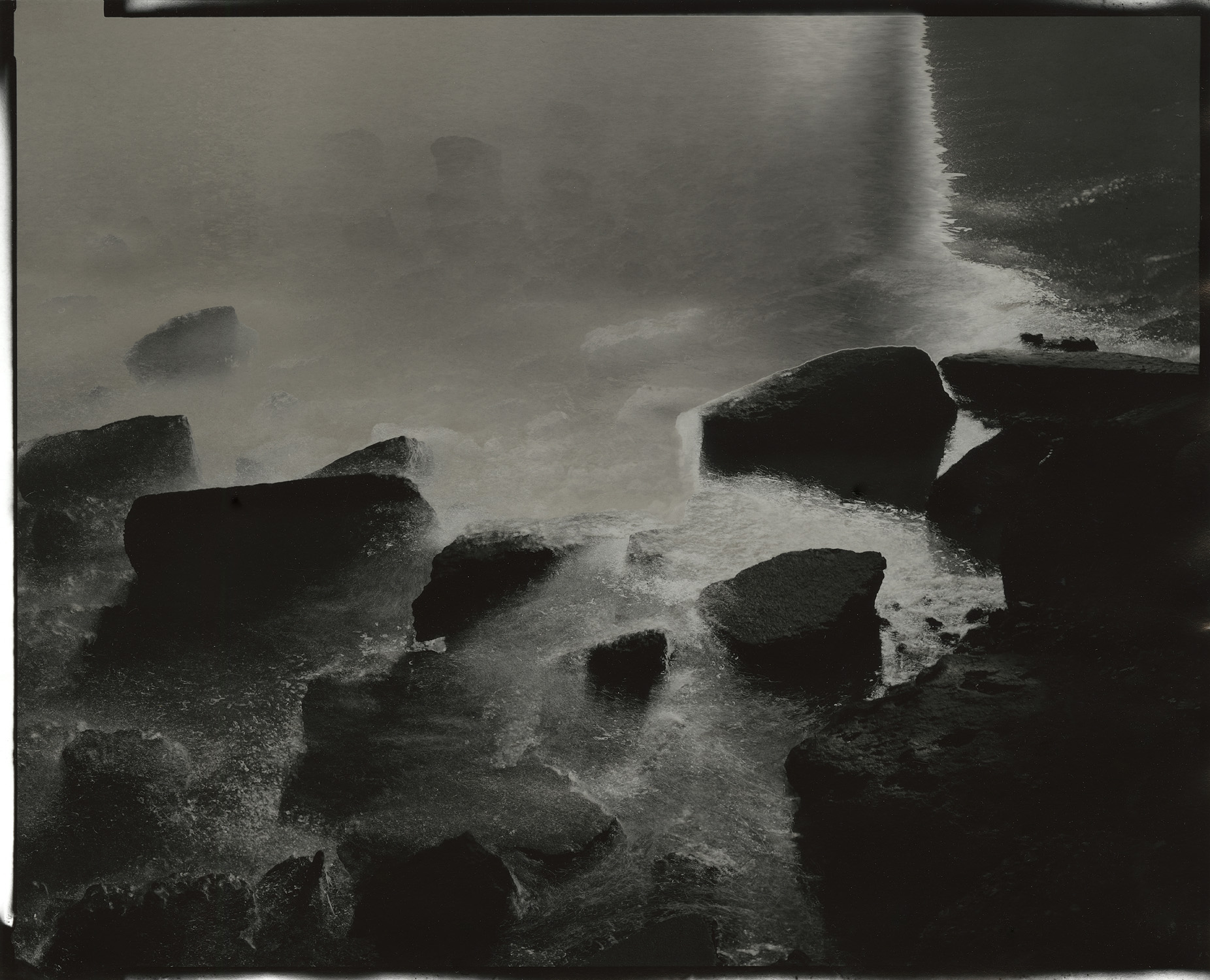 """Tidal #5, 2013. 8""""x10"""" unique gelatin silver paper negative. Courtesy of Haines Gallery, San Francisco"""