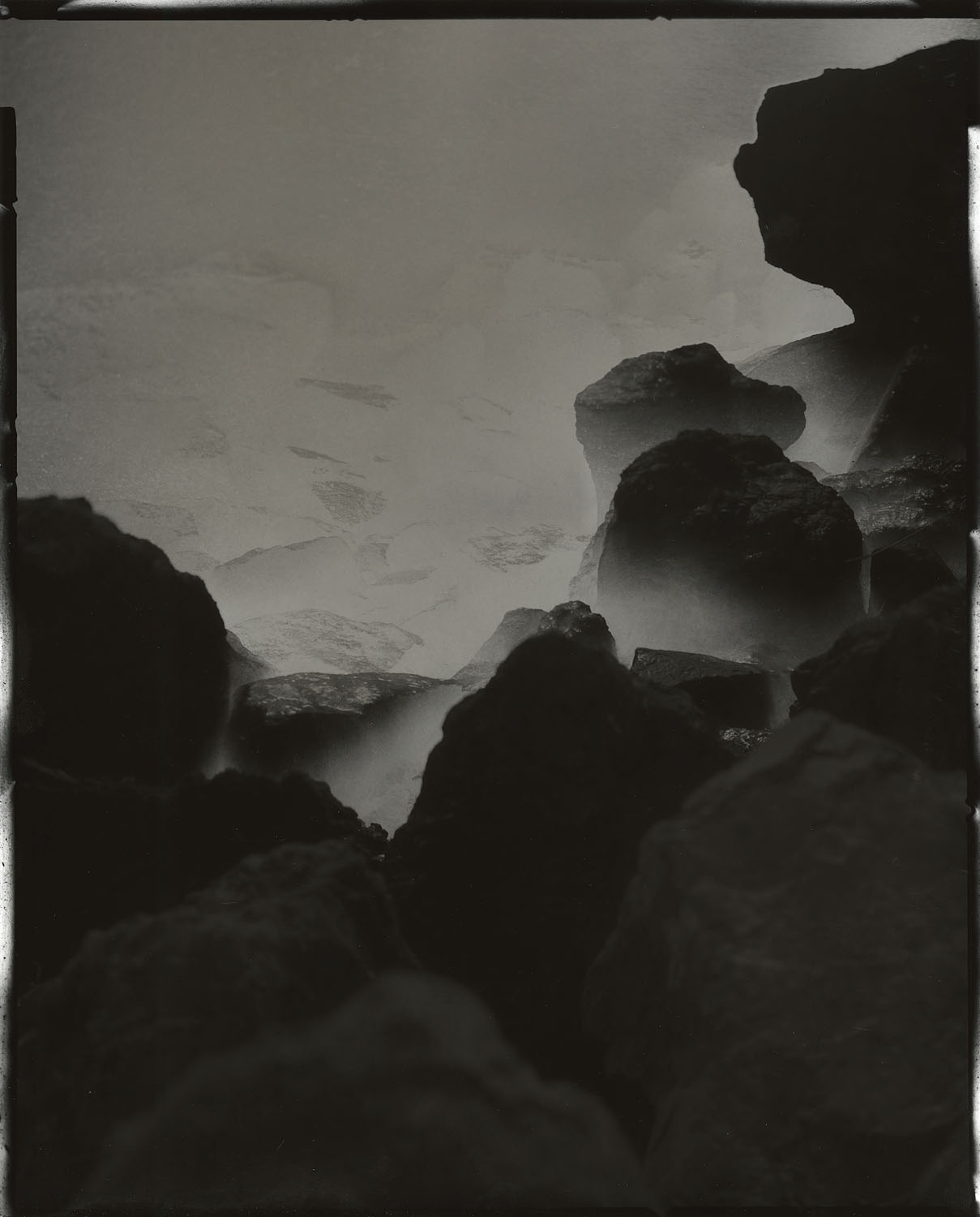"""Tidal #22, 2014. 8""""x10"""" unique gelatin silver paper negative. Courtesy of Haines Gallery, San Francisco"""
