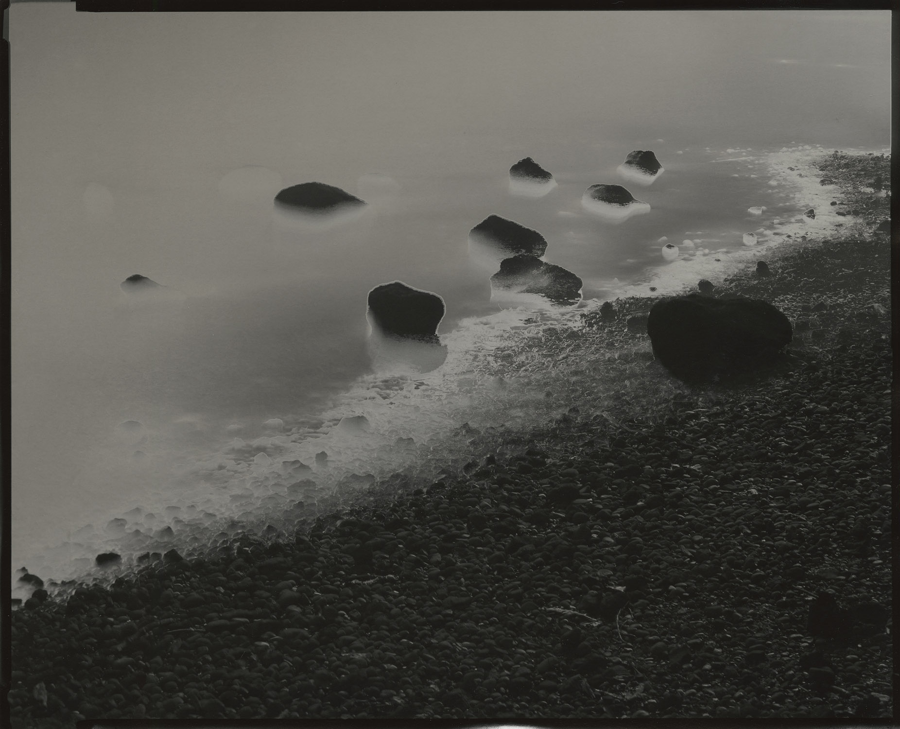 """Tidal #12, 2014. 8""""x10"""" unique gelatin silver paper negative. Courtesy of Haines Gallery, San Francisco"""