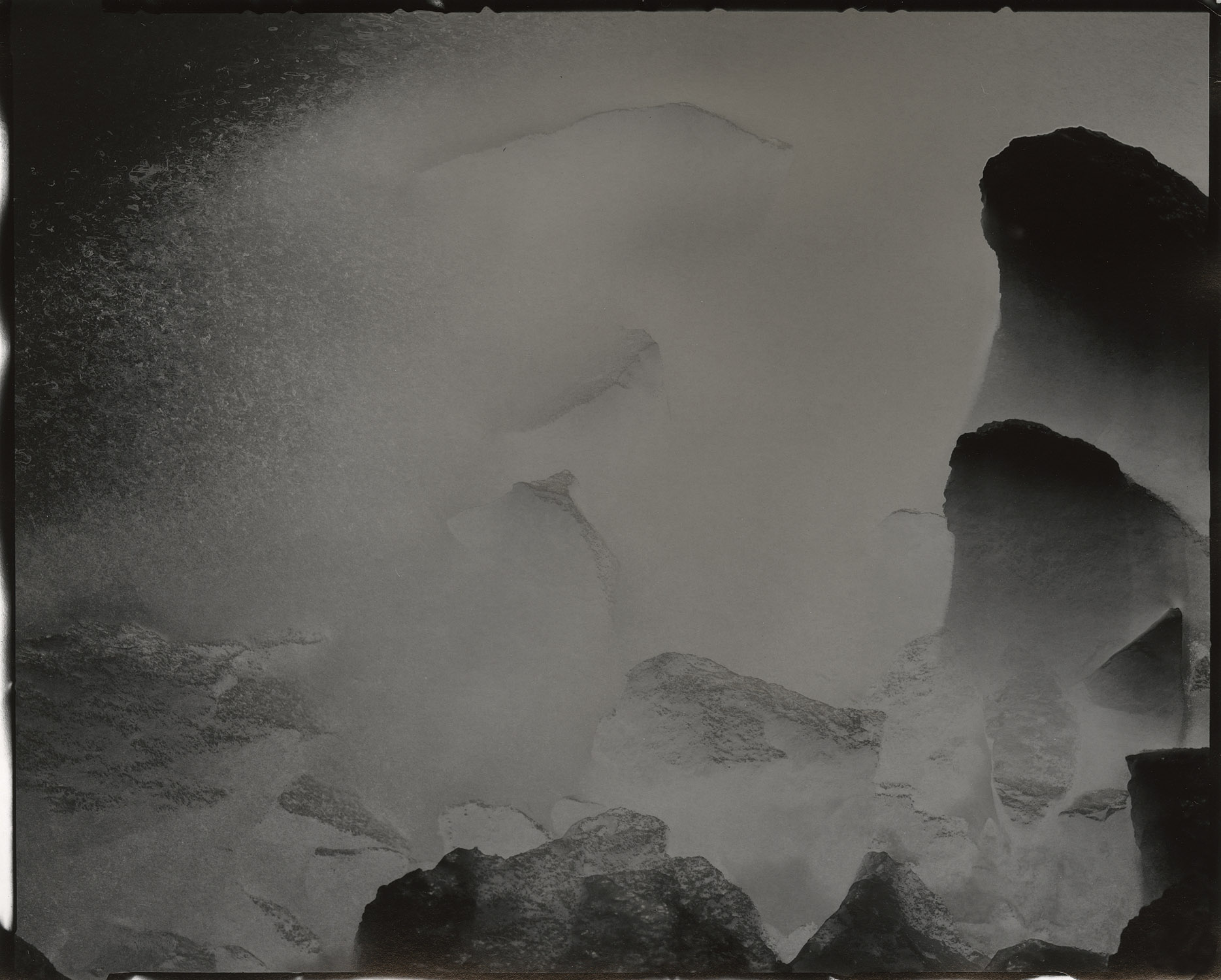 """Tidal #26, 2016. 8""""x10"""" unique gelatin silver paper negative. Courtesy of Haines Gallery, San Francisco"""