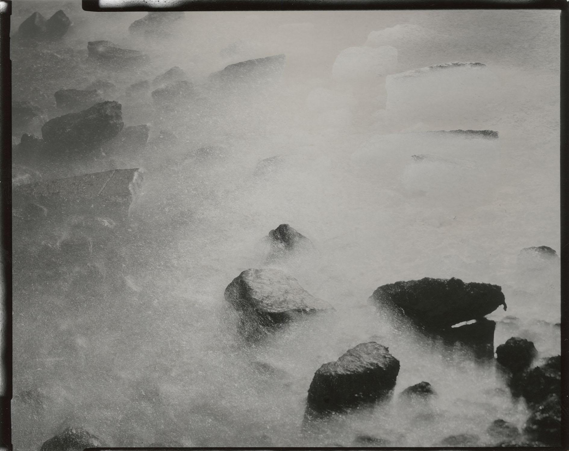 """Tidal #13, 2014. 4""""x5"""" unique gelatin silver paper negative. Courtesy of Yossi Milo Gallery, New York."""