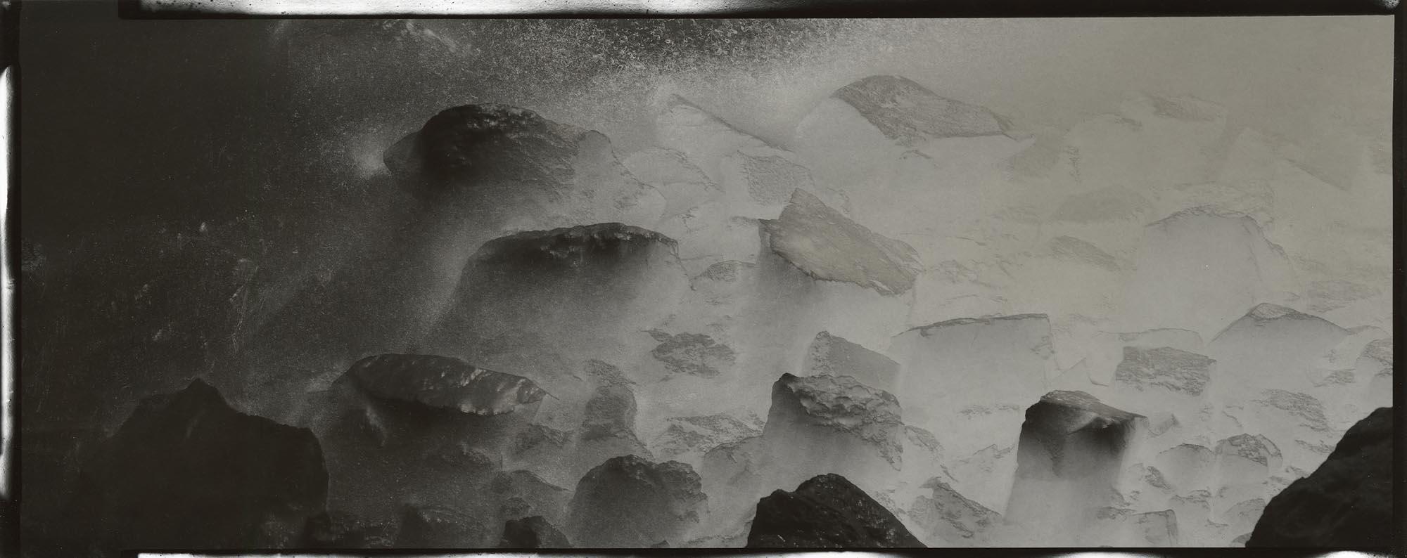 """Tidal #25, 2015. 4""""x10"""" unique gelatin silver paper negative. Courtesy of Yossi Milo Gallery, New York."""