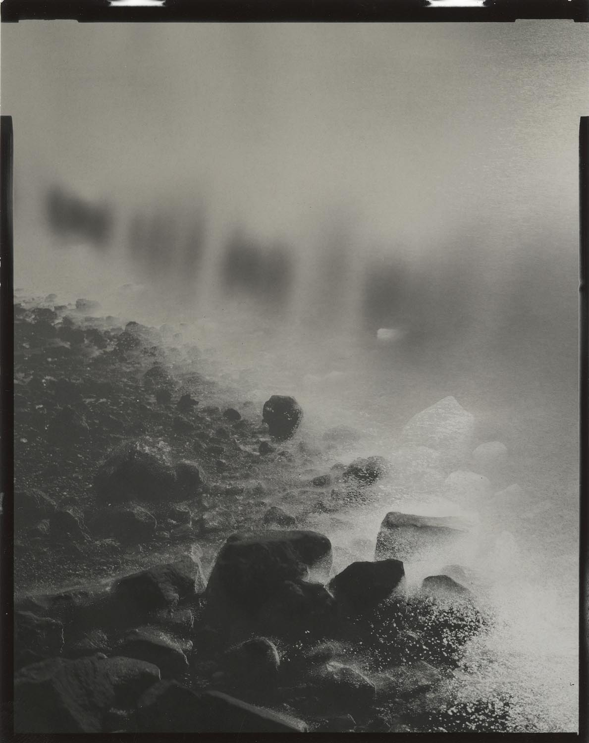 """Tidal #14, 2014. 4""""x5"""" unique gelatin silver paper negative. Courtesy of Haines Gallery, San Francisco"""