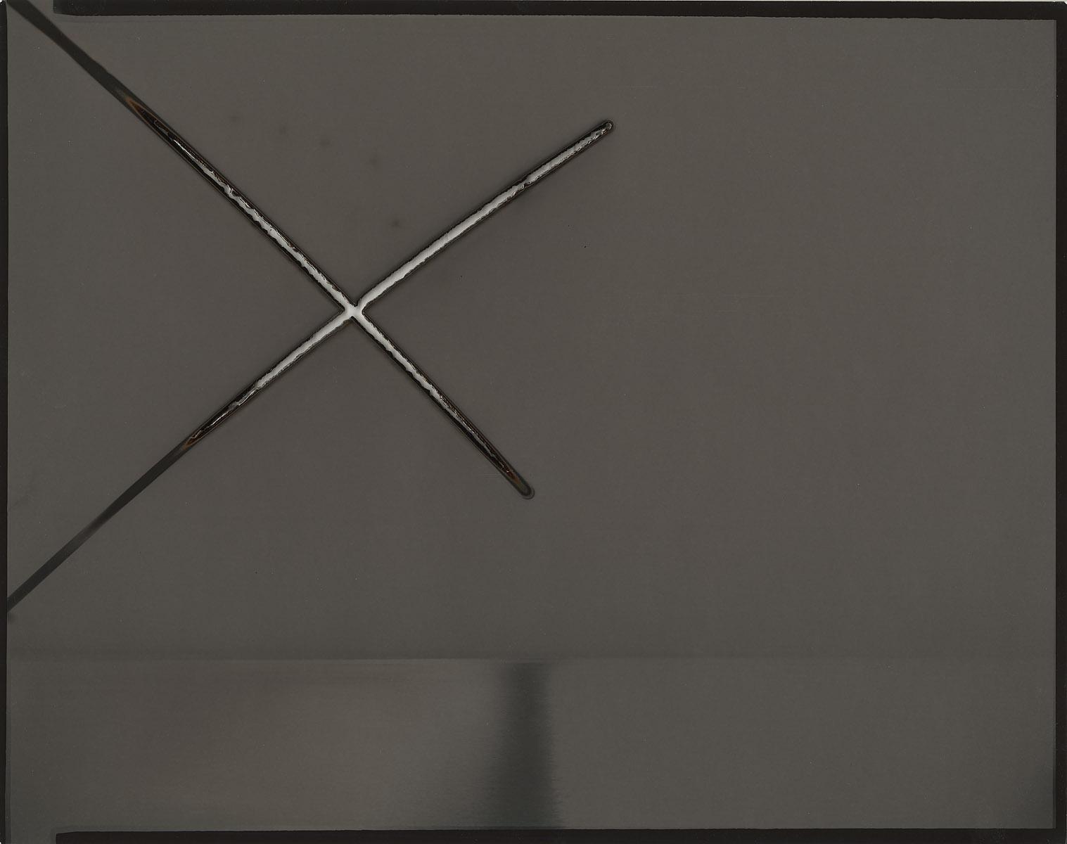 "Heliograph #24, 2013. 11""x14"" unique gelatin silver paper negative. Private collection"